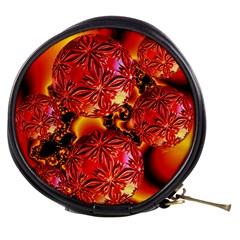 Flame Delights, Abstract Red Orange Mini Makeup Case by DianeClancy
