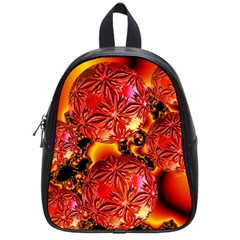 Flame Delights, Abstract Red Orange School Bag (small) by DianeClancy