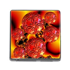 Flame Delights, Abstract Red Orange Memory Card Reader With Storage (square) by DianeClancy