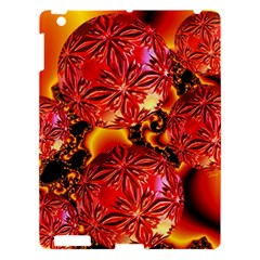 Flame Delights, Abstract Red Orange Apple Ipad 3/4 Hardshell Case by DianeClancy