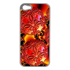 Flame Delights, Abstract Red Orange Apple Iphone 5 Case (silver) by DianeClancy