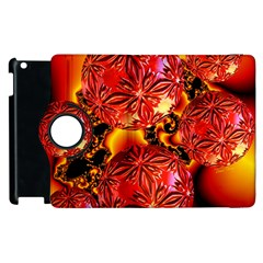 Flame Delights, Abstract Red Orange Apple Ipad 2 Flip 360 Case by DianeClancy