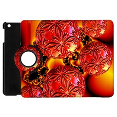Flame Delights, Abstract Red Orange Apple Ipad Mini Flip 360 Case by DianeClancy