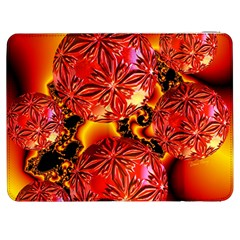 Flame Delights, Abstract Red Orange Samsung Galaxy Tab 7  P1000 Flip Case by DianeClancy