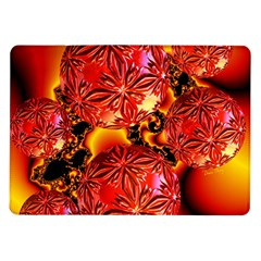 Flame Delights, Abstract Red Orange Samsung Galaxy Tab 10 1  P7500 Flip Case by DianeClancy
