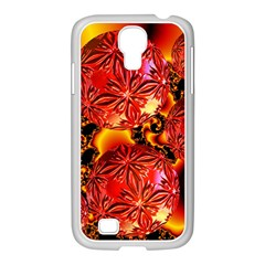 Flame Delights, Abstract Red Orange Samsung Galaxy S4 I9500/ I9505 Case (white) by DianeClancy