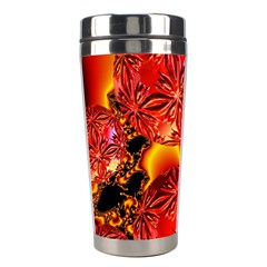 Flame Delights, Abstract Red Orange Stainless Steel Travel Tumbler