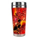 Flame Delights, Abstract Red Orange Stainless Steel Travel Tumbler Left