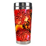 Flame Delights, Abstract Red Orange Stainless Steel Travel Tumbler Center