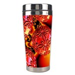 Flame Delights, Abstract Red Orange Stainless Steel Travel Tumbler Right