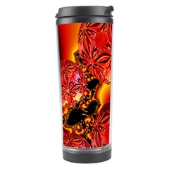Flame Delights, Abstract Red Orange Travel Tumbler by DianeClancy