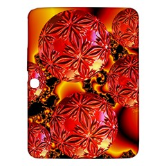 Flame Delights, Abstract Red Orange Samsung Galaxy Tab 3 (10 1 ) P5200 Hardshell Case  by DianeClancy
