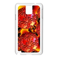 Flame Delights, Abstract Red Orange Samsung Galaxy Note 3 N9005 Case (white) by DianeClancy