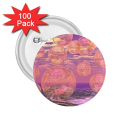 Glorious Skies, Abstract Pink And Yellow Dream 2 25  Button (100 Pack)