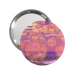 Glorious Skies, Abstract Pink And Yellow Dream Handbag Mirror (2 25 ) by DianeClancy