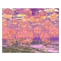 Glorious Skies, Abstract Pink And Yellow Dream Jigsaw Puzzle (rectangle) by DianeClancy