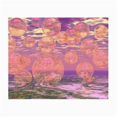 Glorious Skies, Abstract Pink And Yellow Dream Glasses Cloth (small) by DianeClancy