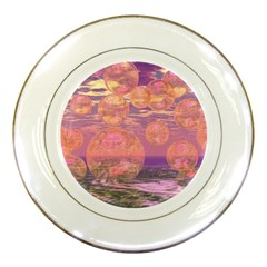 Glorious Skies, Abstract Pink And Yellow Dream Porcelain Display Plate by DianeClancy
