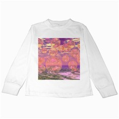 Glorious Skies, Abstract Pink And Yellow Dream Kids Long Sleeve T Shirt