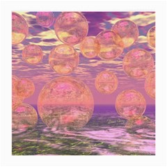 Glorious Skies, Abstract Pink And Yellow Dream Glasses Cloth (medium, Two Sided) by DianeClancy