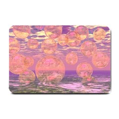 Glorious Skies, Abstract Pink And Yellow Dream Small Door Mat by DianeClancy