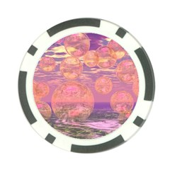 Glorious Skies, Abstract Pink And Yellow Dream Poker Chip by DianeClancy