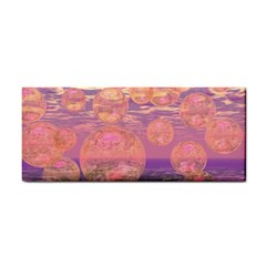 Glorious Skies, Abstract Pink And Yellow Dream Hand Towel by DianeClancy