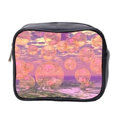 Glorious Skies, Abstract Pink And Yellow Dream Mini Travel Toiletry Bag (two Sides) by DianeClancy