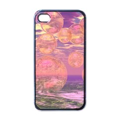 Glorious Skies, Abstract Pink And Yellow Dream Apple Iphone 4 Case (black) by DianeClancy