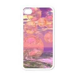 Glorious Skies, Abstract Pink And Yellow Dream Apple Iphone 4 Case (white) by DianeClancy