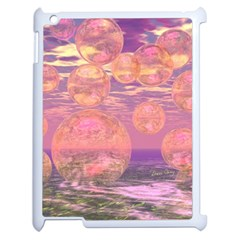 Glorious Skies, Abstract Pink And Yellow Dream Apple Ipad 2 Case (white) by DianeClancy