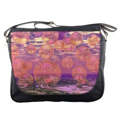 Glorious Skies, Abstract Pink And Yellow Dream Messenger Bag by DianeClancy