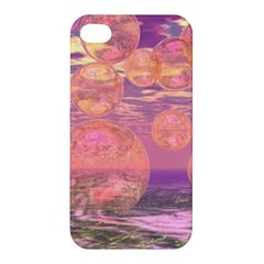 Glorious Skies, Abstract Pink And Yellow Dream Apple Iphone 4/4s Premium Hardshell Case by DianeClancy