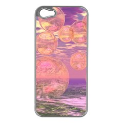 Glorious Skies, Abstract Pink And Yellow Dream Apple Iphone 5 Case (silver) by DianeClancy