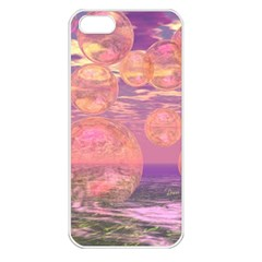 Glorious Skies, Abstract Pink And Yellow Dream Apple Iphone 5 Seamless Case (white) by DianeClancy