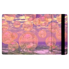 Glorious Skies, Abstract Pink And Yellow Dream Apple Ipad 3/4 Flip Case by DianeClancy