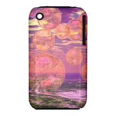 Glorious Skies, Abstract Pink And Yellow Dream Apple Iphone 3g/3gs Hardshell Case (pc+silicone) by DianeClancy