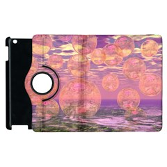 Glorious Skies, Abstract Pink And Yellow Dream Apple Ipad 3/4 Flip 360 Case by DianeClancy