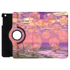 Glorious Skies, Abstract Pink And Yellow Dream Apple Ipad Mini Flip 360 Case by DianeClancy