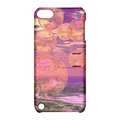 Glorious Skies, Abstract Pink And Yellow Dream Apple Ipod Touch 5 Hardshell Case With Stand by DianeClancy