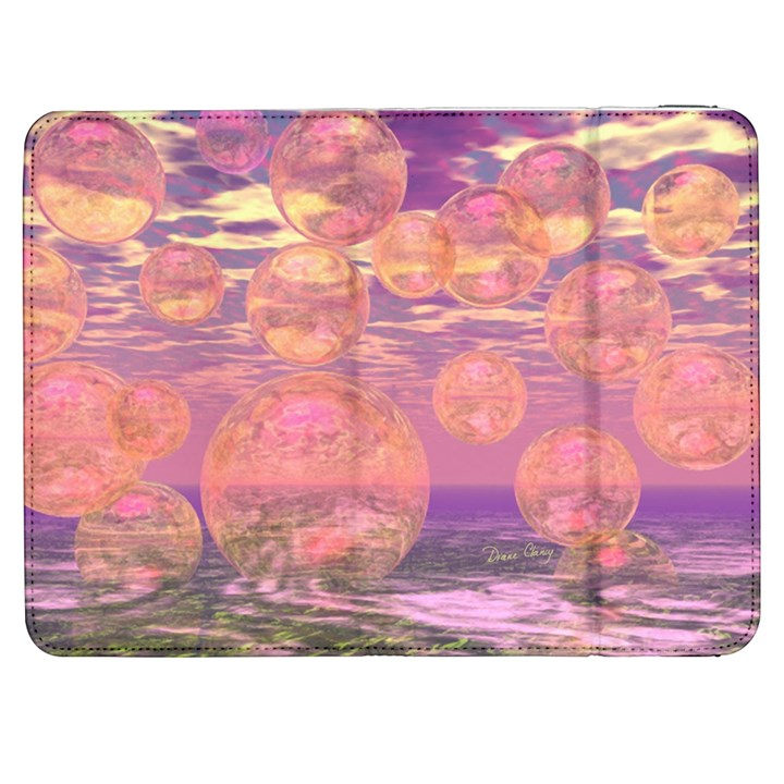 Glorious Skies, Abstract Pink And Yellow Dream Samsung Galaxy Tab 7  P1000 Flip Case