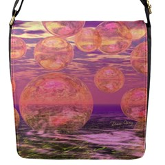 Glorious Skies, Abstract Pink And Yellow Dream Flap Closure Messenger Bag (small) by DianeClancy