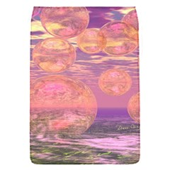Glorious Skies, Abstract Pink And Yellow Dream Removable Flap Cover (small) by DianeClancy