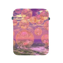 Glorious Skies, Abstract Pink And Yellow Dream Apple Ipad Protective Sleeve by DianeClancy