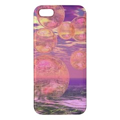Glorious Skies, Abstract Pink And Yellow Dream Iphone 5s Premium Hardshell Case by DianeClancy