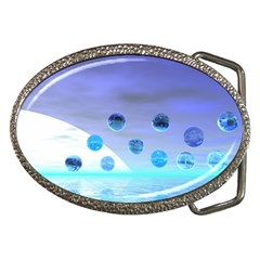 Moonlight Wonder, Abstract Journey To The Unknown Belt Buckle (oval) by DianeClancy