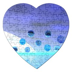 Moonlight Wonder, Abstract Journey To The Unknown Jigsaw Puzzle (heart) by DianeClancy