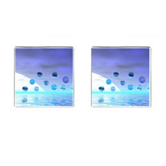Moonlight Wonder, Abstract Journey To The Unknown Cufflinks (square) by DianeClancy