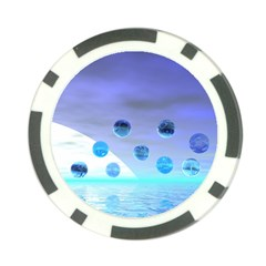Moonlight Wonder, Abstract Journey To The Unknown Poker Chip by DianeClancy