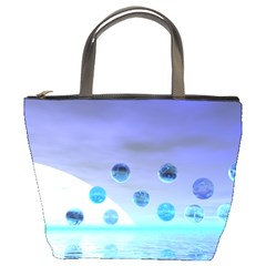 Moonlight Wonder, Abstract Journey To The Unknown Bucket Handbag by DianeClancy